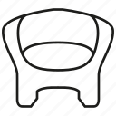 chair, couch, decor, divan, furniture, seat, sofa icon