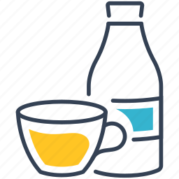 coffee, drink, set icon