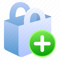add, bag, basket, cart, e-commerce, ecommerce, shop, shopping, store icon