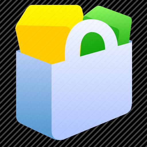 bag, basket, buy, cart, e-commerce, ecommerce, full, sale, shop, shopping, store icon