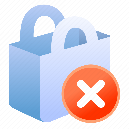 bag, basket, business, buy, cart, e-commerce, ecommerce, exclude, remove, sale, shop, shopping, store icon