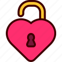 heart, lock, private, unlock, valentine
