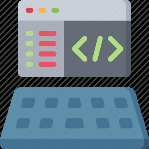 coding, computing, it solutions, program, software engineering icon