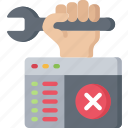 code, computing, error, it solutions, repair, repairing, software engineering icon