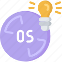 computing, it solutions, lightbulb, os, software engineering, solutions icon
