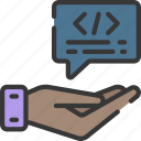 advice, coding, computing, give, hand, it solutions, software engineering icon