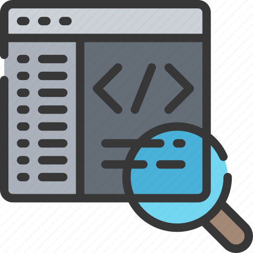 audit, code, computing, it solutions, search, software engineering icon