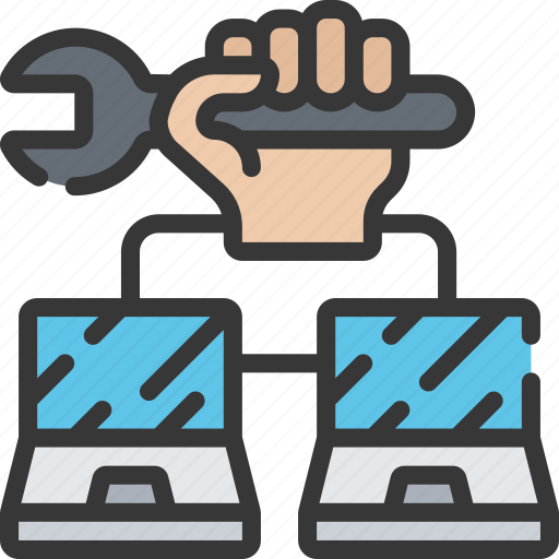 computing, it solutions, network, repairing, repairs, software engineering icon