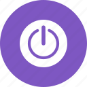circle, computer, cpu, energy, power, switch icon