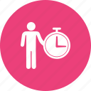 business, idea, manage, management, organization, time icon