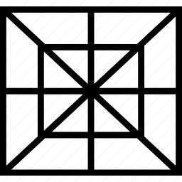dimension, grid, perspective, web icon