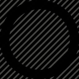 circle, line, round, shape icon
