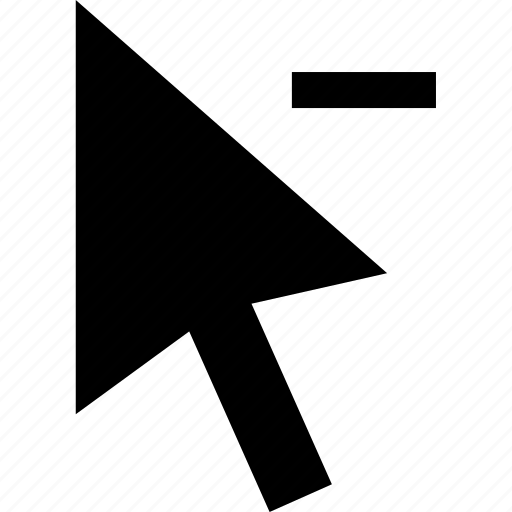 arrow, cursor, delete, minus, pointer, pointing, remove icon