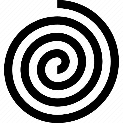 spiral, swirl, turn icon