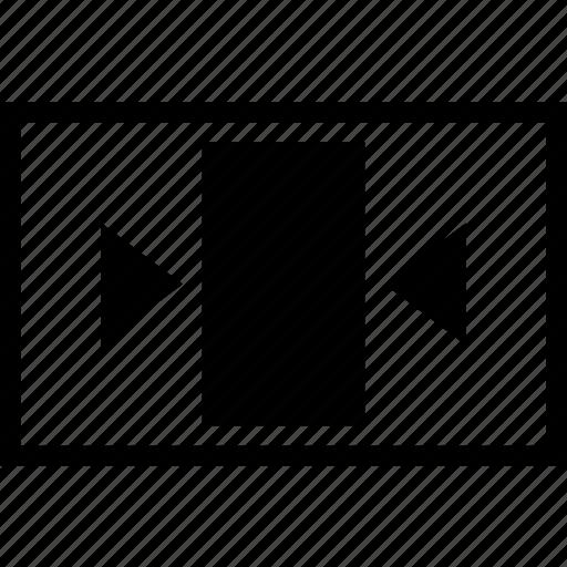 arrow, box, close, narrow, object icon