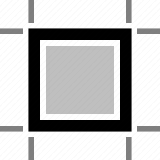 area, artboard, boundary, canvas, compound, crop, square icon