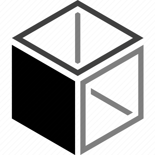 dimensional, geometry, layer, outside, shape, software, three icon