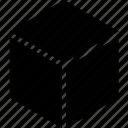 box, dimension, dimensional, geometry, isometric, shape, three icon