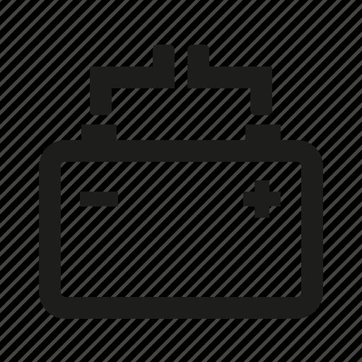 battery, solar icon