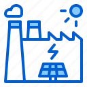 eco, energy, factory, panel, power, solar, sun