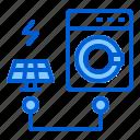 electric, machine, panel, solar, washing