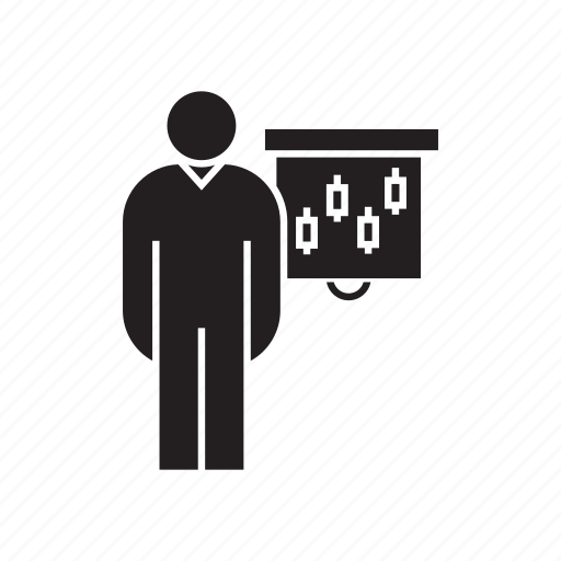 conference, corporation, graph, office, people, present, whiteboard icon