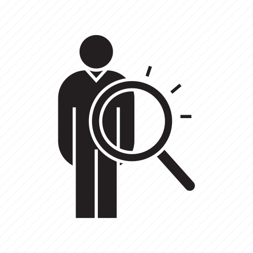 human resource, magnifier, people, recruiting, recruitment, scan, search icon