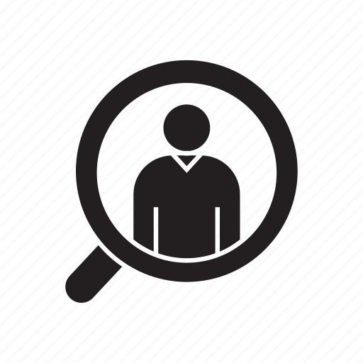 employer, human resource, magnifier, recruiting, recruitment, search icon