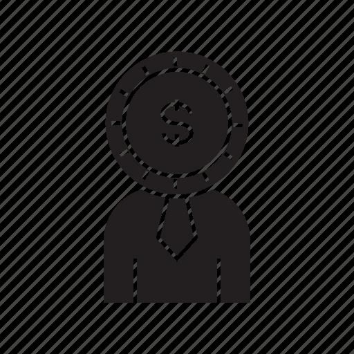 dollar, finance, fund, investor, money icon