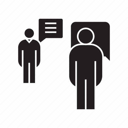 communication, consultant, consulting, people, speech, talk icon