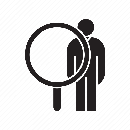 human resource, magnifier, recruiting, recruitment, scan icon