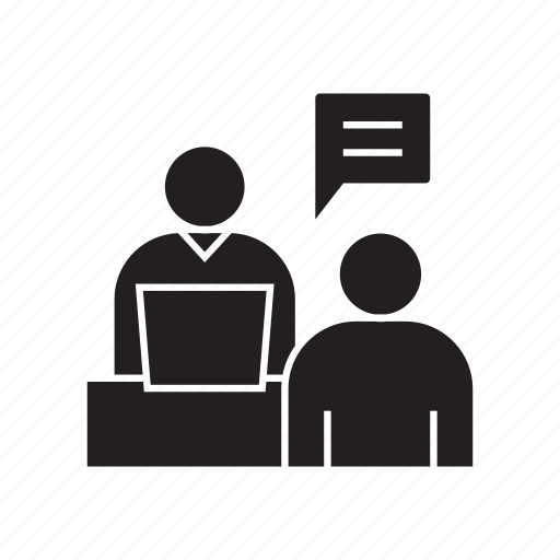consultant, consulting, job interview, talk icon