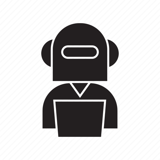 artificial intelligence, bot, business, computer, management, people, robot icon