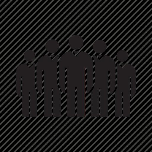 crowd, leader, team, teamwork icon