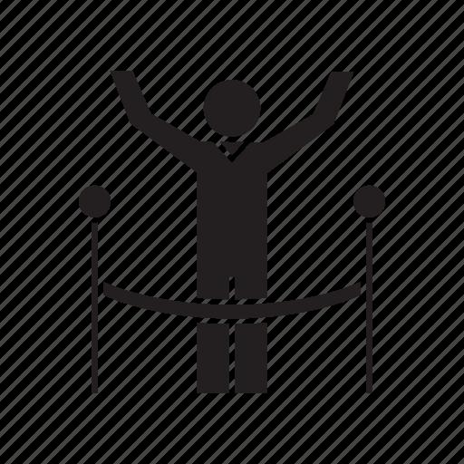 achievement, person, running, success, win, winner icon