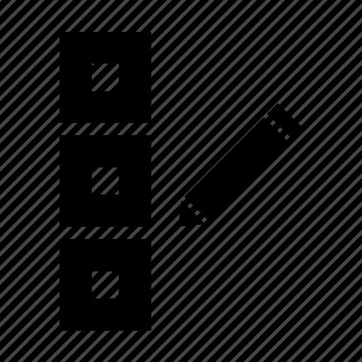 database, edit, pencil icon