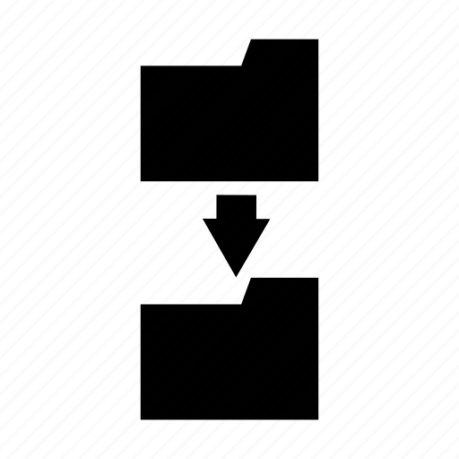 documents, folder, move icon