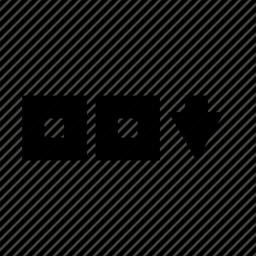 decending, down, list icon