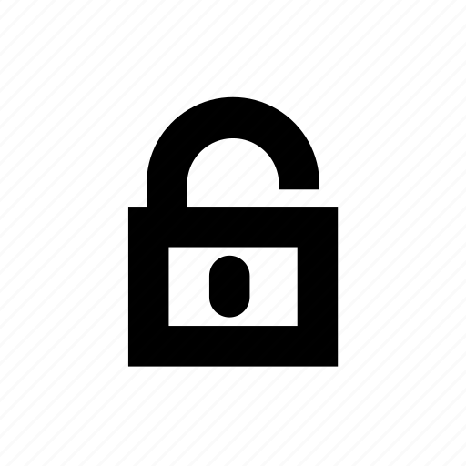 padlock, security, unlock icon