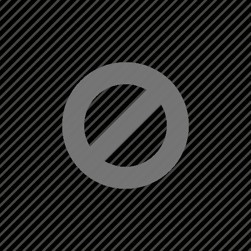 cancel, forbidden, no, pause, stop icon