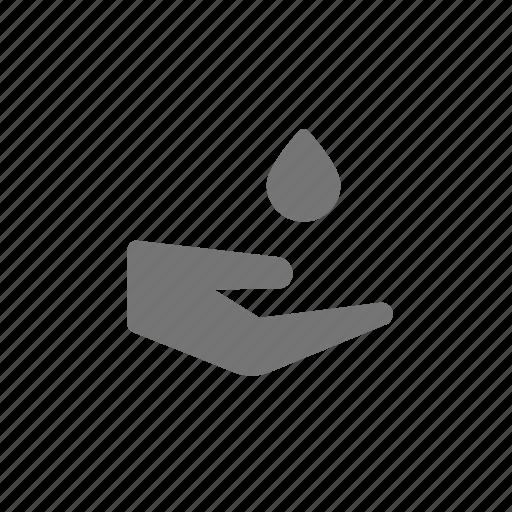 drop, hand, humidity icon