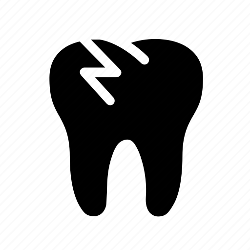 broken tooth, decayed tooth, dental, dentist, dentistry, oral hygiene, tooth icon