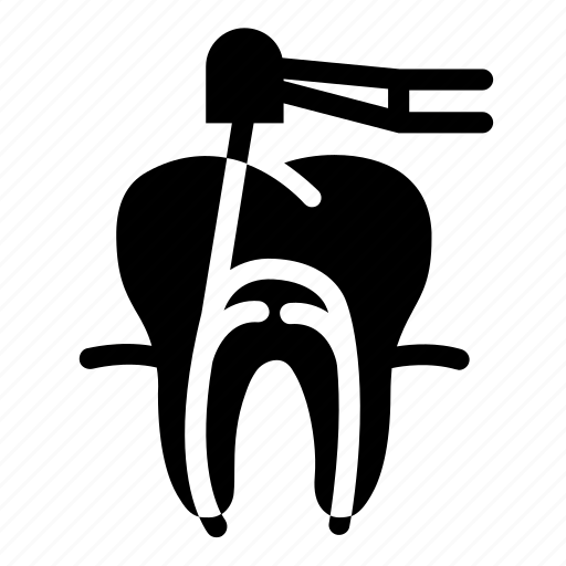 dental, dentist, dentistry, oral hygiene, root canal, tooth, treatment icon