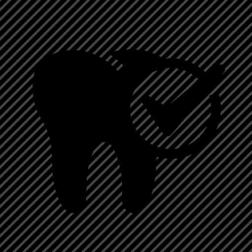 dental, dental health care, dentist, dentistry, oral hygiene, tooth, tooth check icon