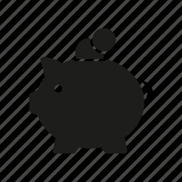 banking, coins, finance, money, piggy bank, savings icon