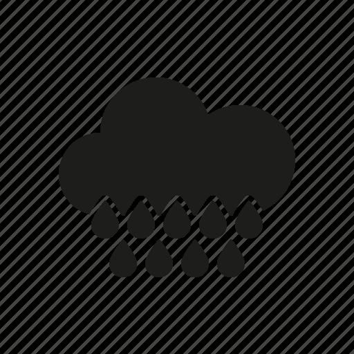 climate, cloud, rain, raindrops, rainy, weather icon