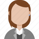 avatar, formal, girl, office icon