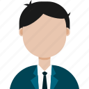 avatar, formal, man, suit icon