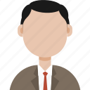 avatar, formal man, man, man in sute icon