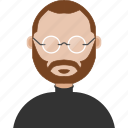 avatar, jobs, man, steve icon